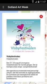 Gotland Art Week apk screenshot