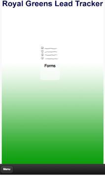 Royal Greens Lead Tracker poster