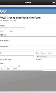 Royal Greens Lead Tracker apk screenshot