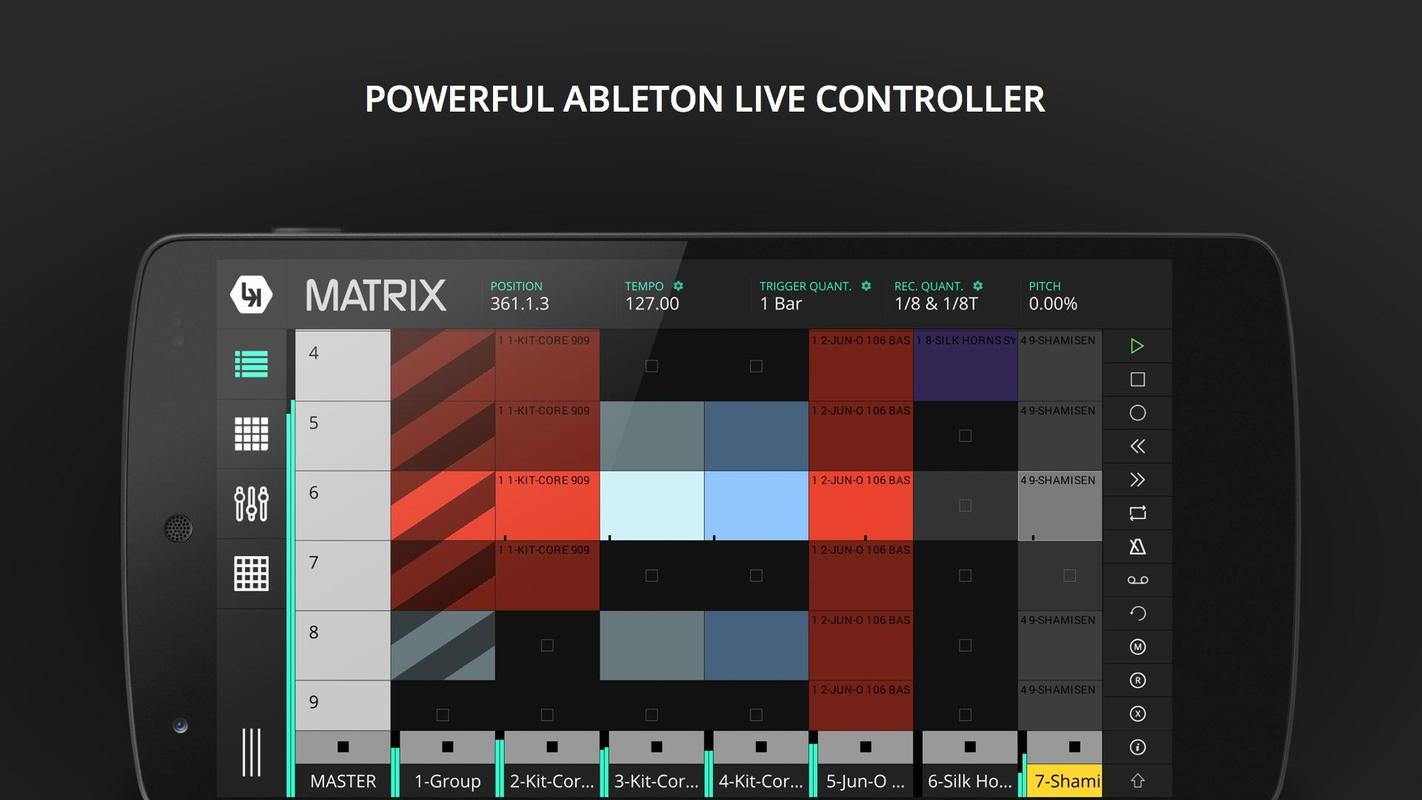 lk ableton midi control apk download free music audio app for android. Black Bedroom Furniture Sets. Home Design Ideas