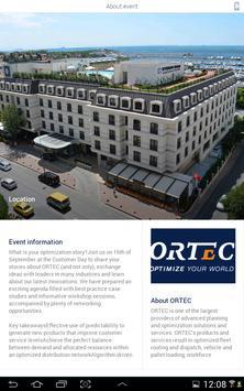 ORTEC Customer Day apk screenshot