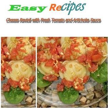 Cheese Ravioli Fresh Tomato poster