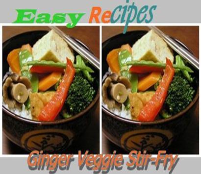 Ginger vegetable Stir-Fry poster