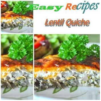 Lentil Quiche poster