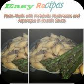 Pasta Shells with Portobello icon