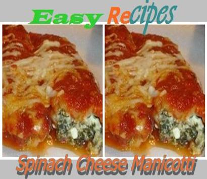 Spinach Cheese Manicotti poster