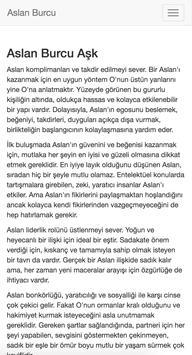 Aslan Burcu apk screenshot