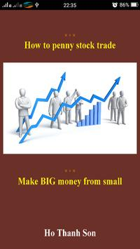 how to penny stock trade poster
