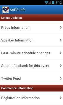 2013 AAPS Annual Meeting apk screenshot