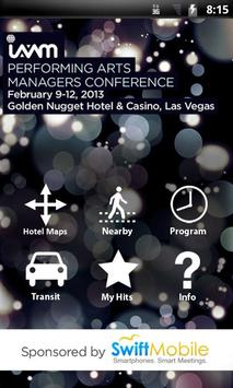 IAVM Performing Arts Managers poster