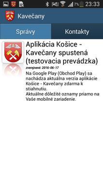 Košice - Kavečany poster