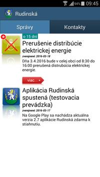 Rudinská poster