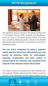 NTFIII Bangladesh Exporters poster