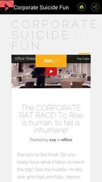 Corporate Suicide Fun Blog apk screenshot