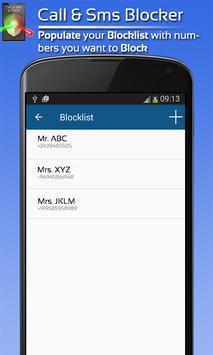 Blacklist / Call Blocker apk screenshot