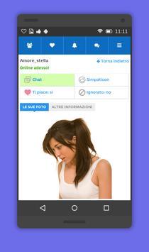 Chat incontri single apk screenshot