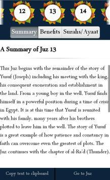 A Summary of the Quran apk screenshot