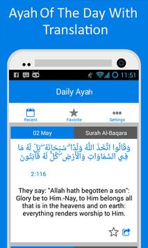 Ayah Of The Day (Daily Ayah) apk screenshot