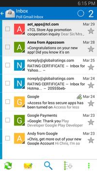 Inbox for Android - Email App apk screenshot
