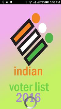 All india voter list 2016 poster