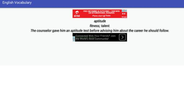 English Vocabulary - Learn Eng apk screenshot