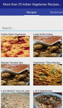 Indian Vegetarian Recipes apk screenshot