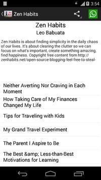 Zen Habits apk screenshot