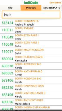 IndiCode STD, PIN Code,RTO apk screenshot