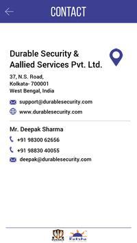 Durable Security and Raksha apk screenshot