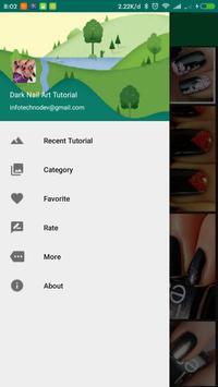 Unique Dark Nail Art Tutorial apk screenshot