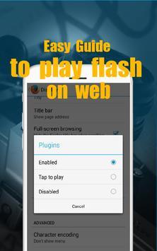 Play Flash on Web Guide apk screenshot