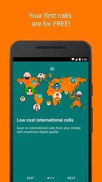 Infocaller Lite: cheap calls poster