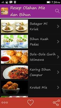 Resep Olahan Mie dan Bihun apk screenshot