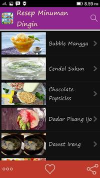 Resep Minuman Dingin apk screenshot