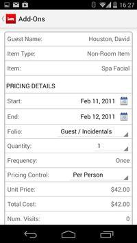 Infor HMS Hotel Packages apk screenshot