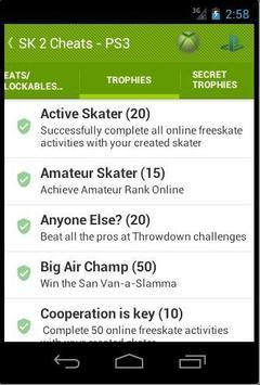 Cheats For Skate 3, 2 and 1 apk screenshot