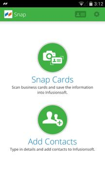 Snap by Infusionsoft apk screenshot