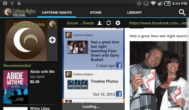 Caffeine Nights Books apk screenshot