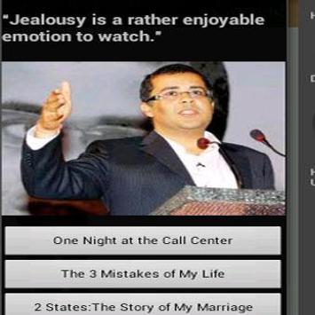 Chetan Bhagat Novels apk screenshot