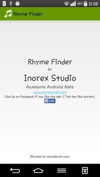 Rhyme Finder apk screenshot