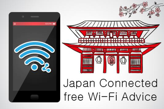 Japan Connect free WiFi Advice poster