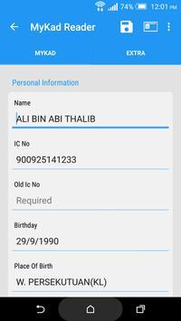 Mobile MyKad Reader apk screenshot
