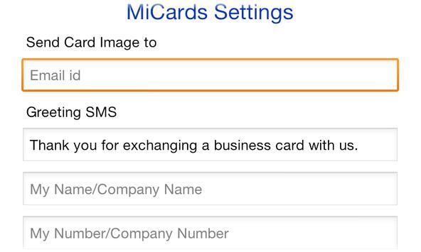 MiCards apk screenshot