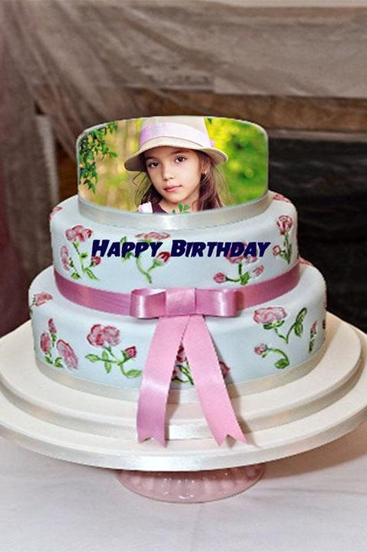 Cake With Photo Frame : Photo on Birthday Cake Frame APK Download - Free ...
