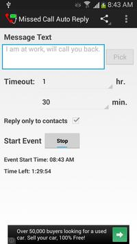 Missed Call Auto Reply apk screenshot