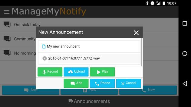 ManageMyNotify apk screenshot