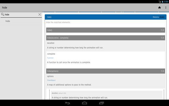 JQuery Api apk screenshot
