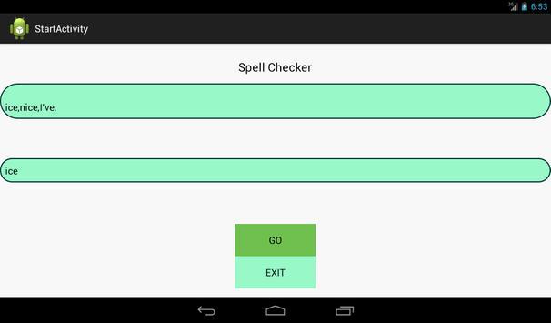 Spell Checker apk screenshot