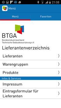BTGA Lieferantenverzeichnis poster