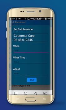 Call Reminder apk screenshot